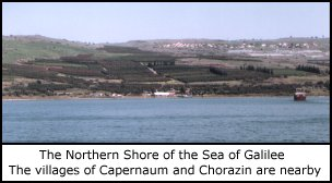 The North Shore of the Sea of Galilee