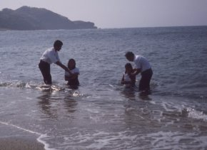 Baptisms in the South China Sea, northern Luzon